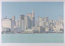 8: H.N. Han, New York City Skyline, Silkscreen