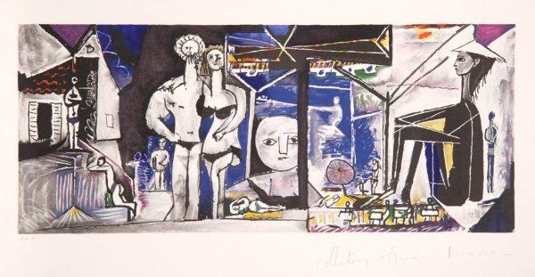 10: Pablo Picasso, Jeux De Plage, Lithograph