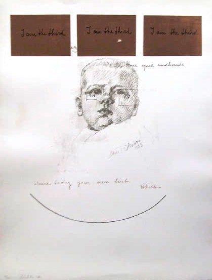 13: Michelangelo Pistoletto, I Am The Third, Silkscreen