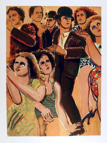 16: Lester Johnson, New York Dancers , Lithograph