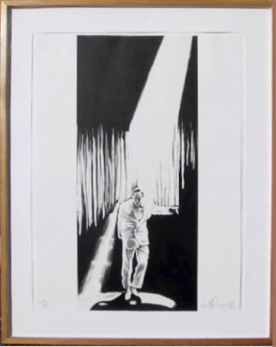 68: Robert Longo, The Entertainer, Lithograph