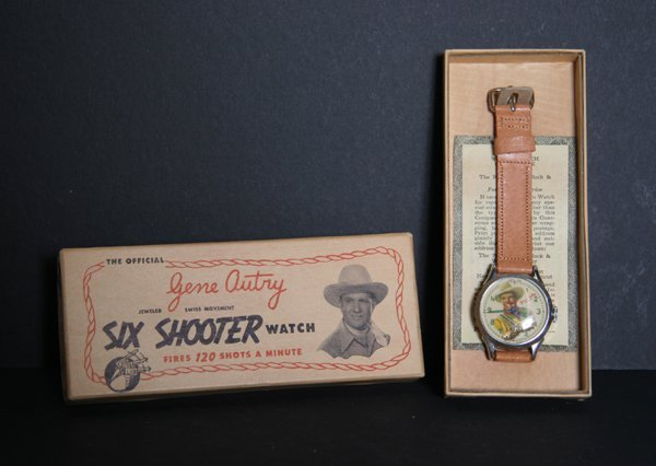 192: Gene Autry Six Shooter Collectible Watch