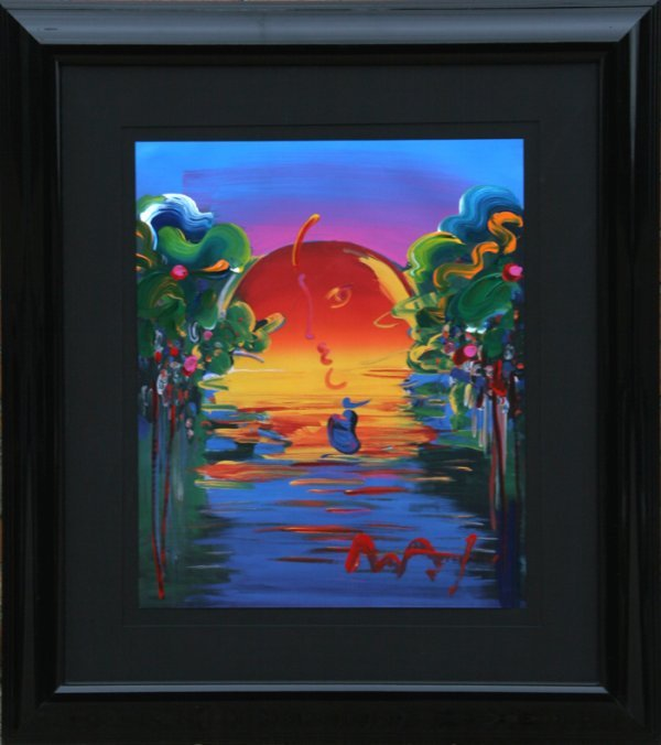 260: Peter Max, Better World, Painting