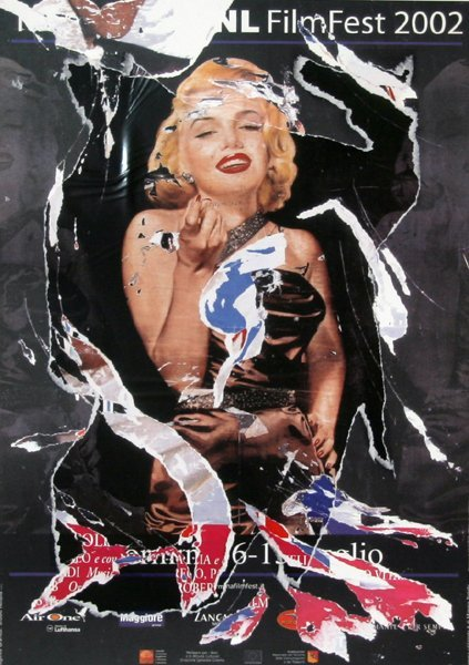 127: Mimmo Rotella, A Tribute to Marilyn, Collage Serig