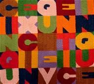 249: Alighiero Boetti, Cinque, Tapestry