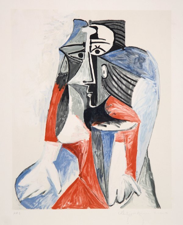 1: Pablo Picasso, Femme Assise, Lithograph