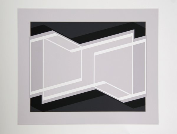 2: Josef Albers, Geometric Op-Art Silkscreen