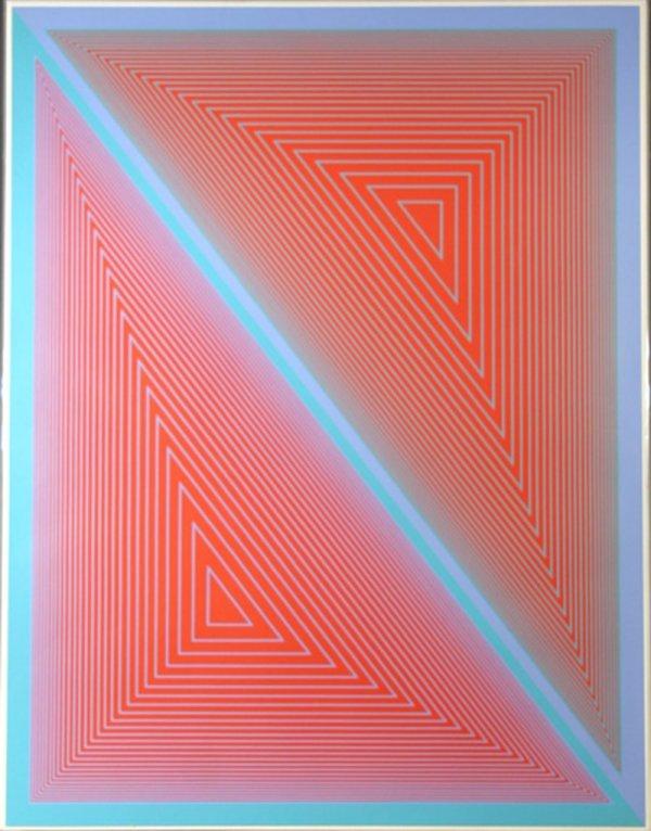 6: Richard Anuszkiewicz, Op-Art, Serigraph
