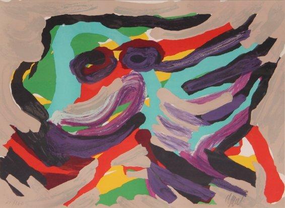8: Karel Appel, Fantastic Animal, Lithograph