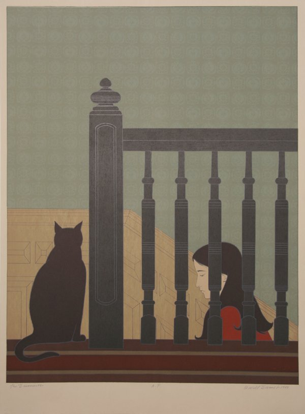 15: Will Barnet, The Bannister, Lithograph