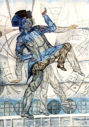 17: Martin Barooshian, Vaudeville Tap Dancer, Painting