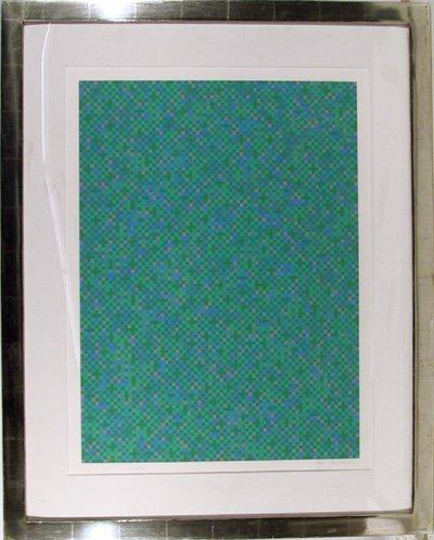 22: Tony Bechara, Blue City, Framed Serigraph