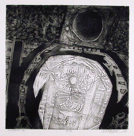 33: Arun Bose, Indian Etching 1969