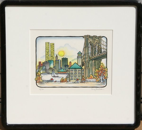 11: Tony Graham, New York - Fall, Lithograph