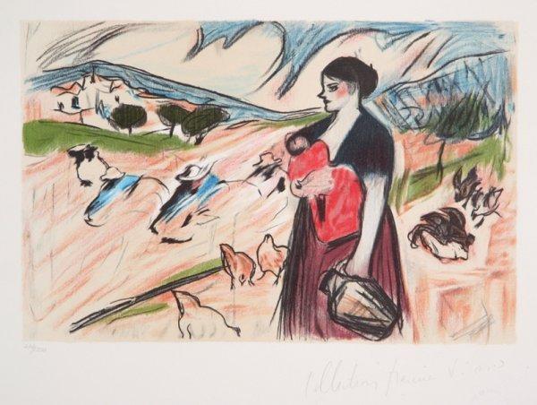 1: Pablo Picasso, Paysanne et son Enfant, Lithograph