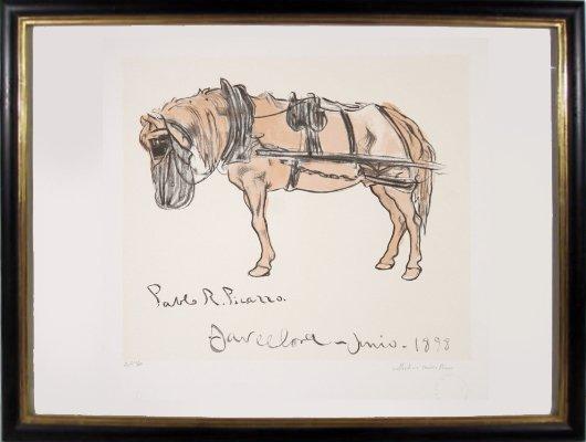 2: Pablo Picasso, Cheval Attele, Lithograph
