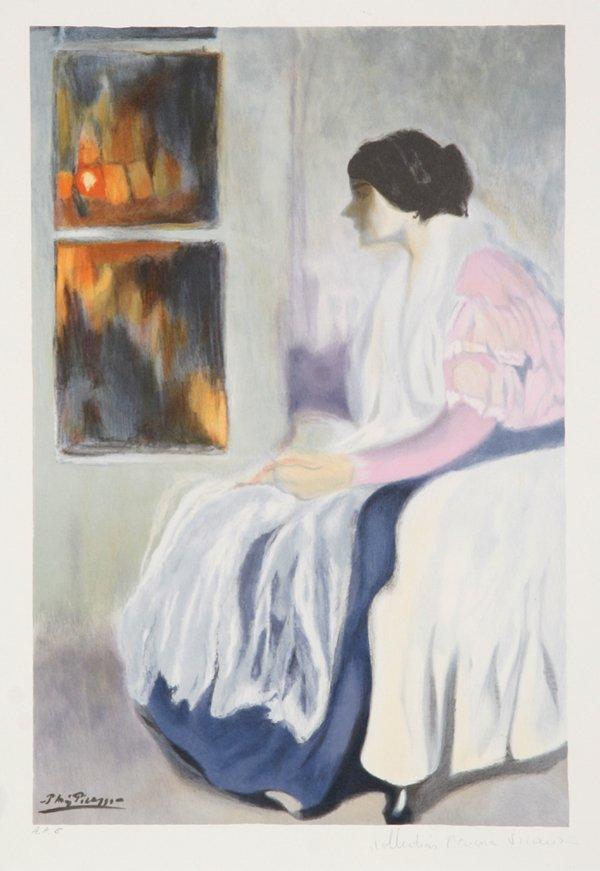 3: Pablo Picasso, La Soeur de L'Artiste, Lithograph