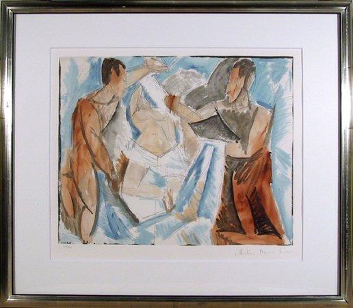 4: Pablo Picasso, Etude de Personnages, Lithograph