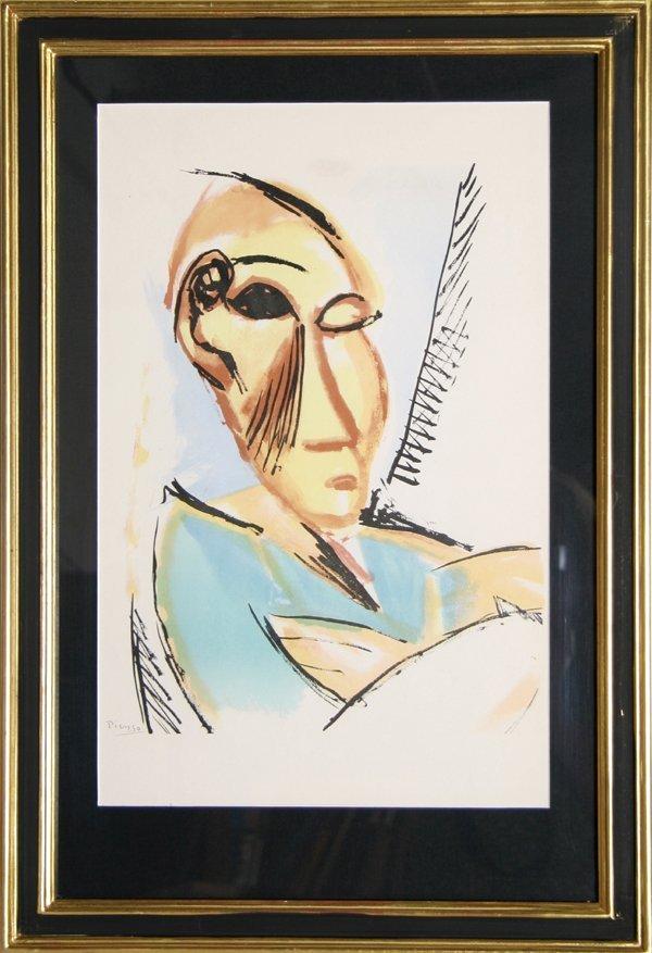 7: Pablo Picasso, Study for Demoiselles d'Avignon, Lith