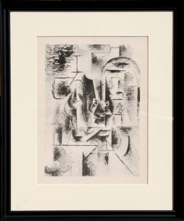 8: Pablo Picasso, Homme a la Pipe, Lithograph