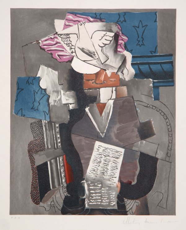 9: Pablo Picasso, Personnage et Colombe, Lithograph