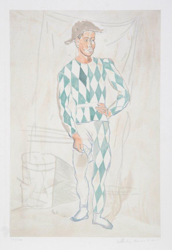 11: Pablo Picasso, Arlequin en Pied, Lithograph