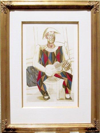 12: Pablo Picasso, Arlequin a la Guitare, Lithograph