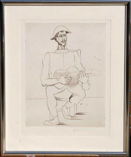 13: Pablo Picasso, Arlequin Moustachu a la Guitare, Lit