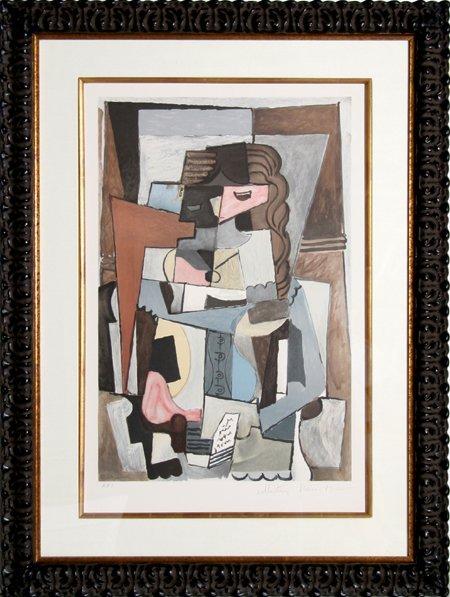 17: Pablo Picasso, Femme au Corset, Lithograph