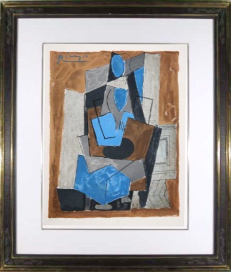 18: Pablo Picasso, Femme Assise, Lithograph