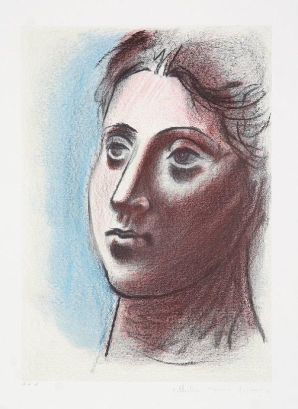 21: Pablo Picasso, Portrait de Femme, Lithograph