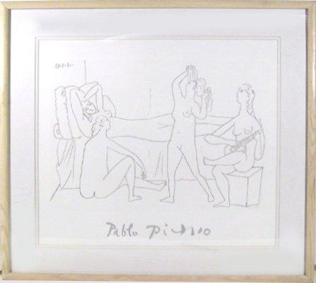 23: Pablo Picasso, Quatre Nus au Harem, Lithograph