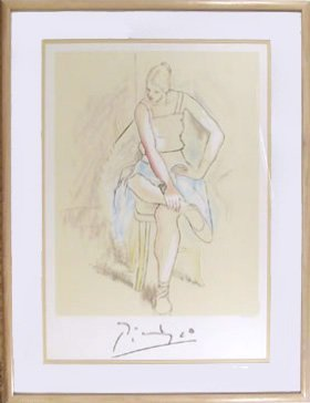 24: Pablo Picasso, Femme Assise, Lithograph