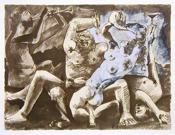 150: Pablo Picasso, Bacchanale, Lithograph