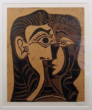 184: Pablo Picasso, Tete de Femme, Linocut