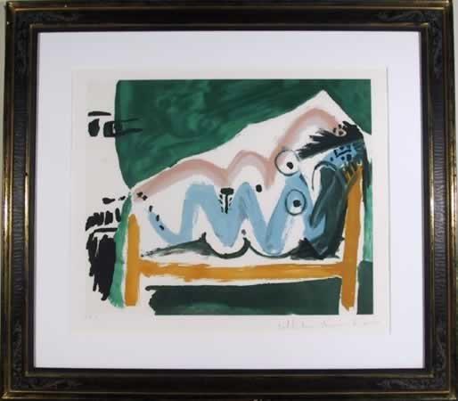 190: Pablo Picasso, Ne Allongee, Lithograph
