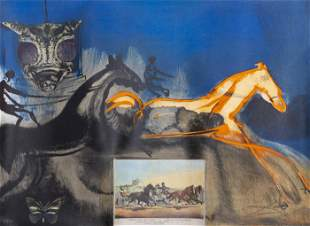 Salvador Dali, American Trotting Horses No. 2,