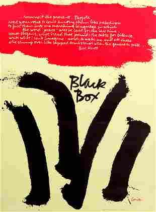 Sister Mary Corita Kent, Black Box, Poster