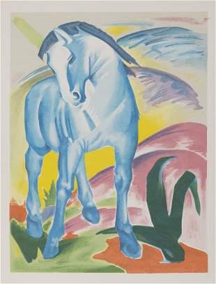 Franz Marc, Blue Horse, Screenprint Poster