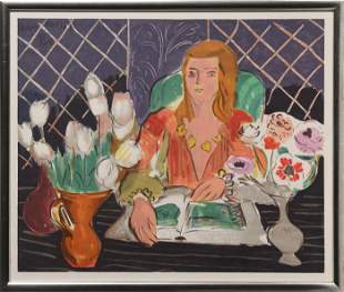 Henri Matisse, Woman and Flowers II, Screenprint Poster