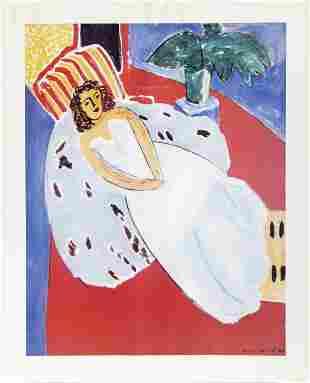 Henri Matisse, Woman Reclining in White Dress, Poster