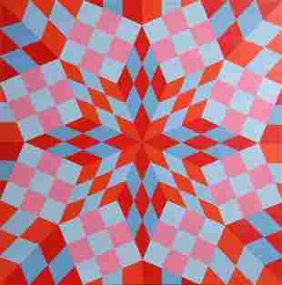Roy Ahlgren, Megalopolis, Acrylic Painting
