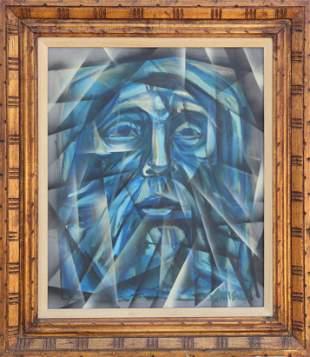 Irving Amen, Prophet (Face), Oil Painting