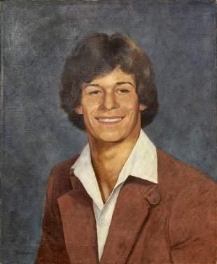 John Bazadona, Portrait of Adam J. Lupu, Oil Painting