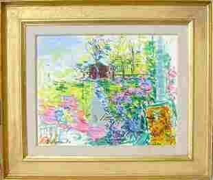 Dimitrie Berea, Our House and Garden, Smithtown, Oil