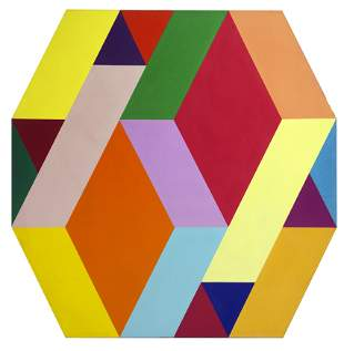 Arthur Boden, Untitled (Diamonds), Acrylic on Shaped