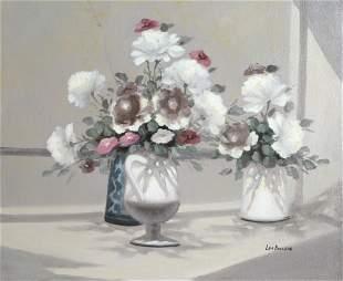 Les Bullene, Floral, Oil Painting