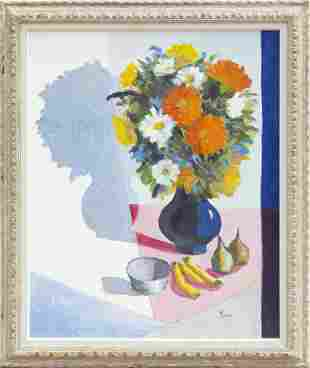 Jose Luis Figueroa, Still Life with Flowers, Oil