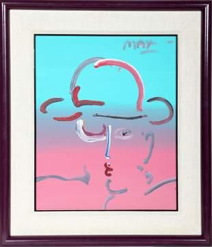 Peter Max, Zero, Acrylic Painting