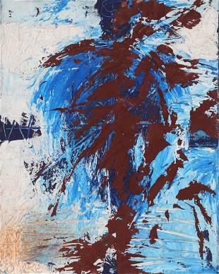 Antonio Ole, Spirit, Oil Painting and verso